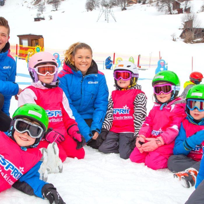 Esprit | Esprit staff in the snow with the children