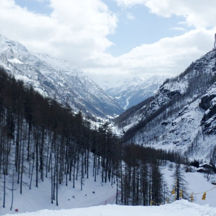 Esprit | A view of Gressoney from Piste Jolanda