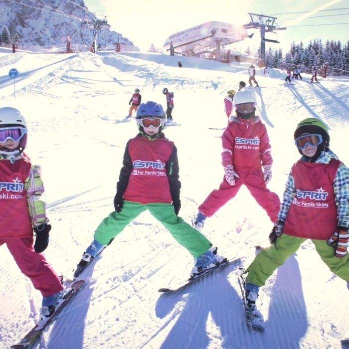 Esprit | Esprit children practicing snow plough turns