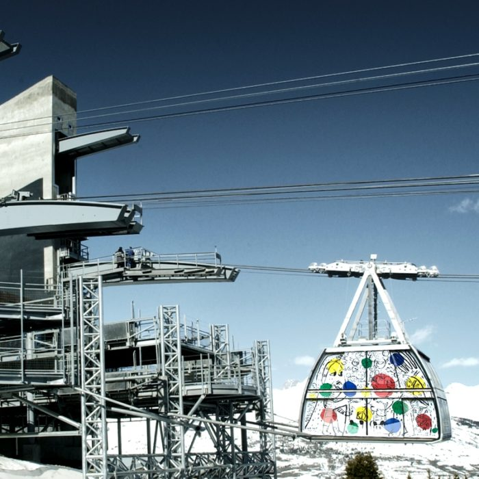 Esprit | The Vanoise Express cable car linking the Paradiski Ski area- the resorts of Les Arcs and La Plagne