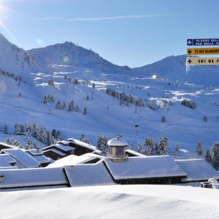 Esprit | Snowy mountains with a left hand turn to Belle Plagne