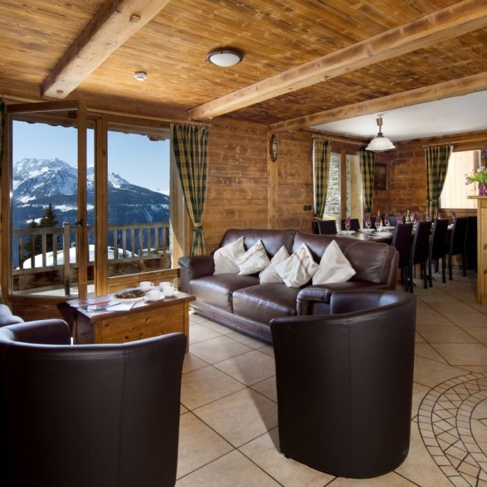 Esprit | A typical lounge in the Ferme D'Elisa Chalets