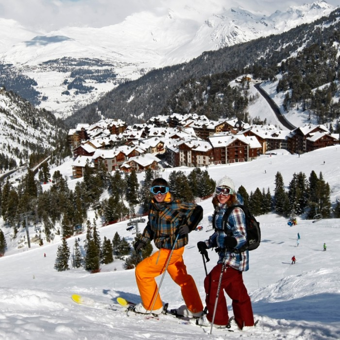 Esprit   Skiing down into Les Arcs 2000