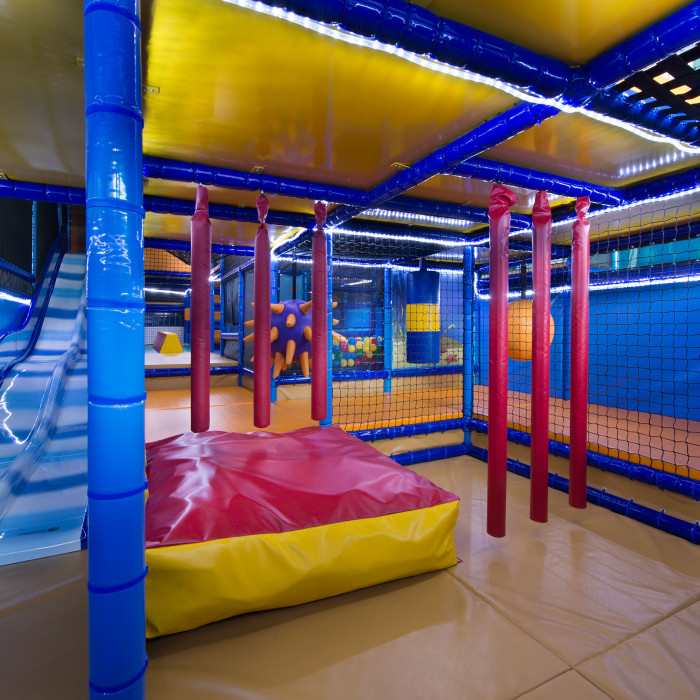 Chalet Hotel Crystal adventure play zone slide on level 1