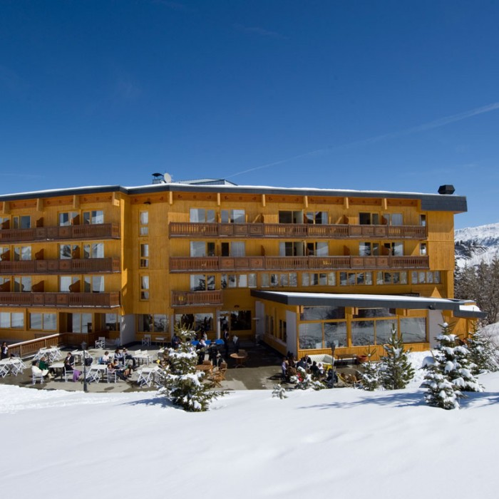 chalet hotel crystal 2000 exterior view with sun terrace