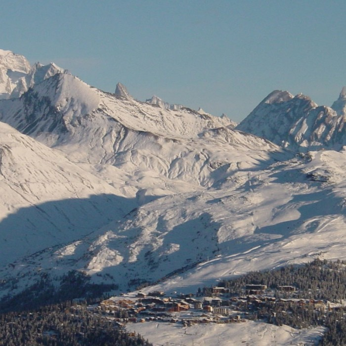 Esprit | View of La Rosière from on top of the mountains
