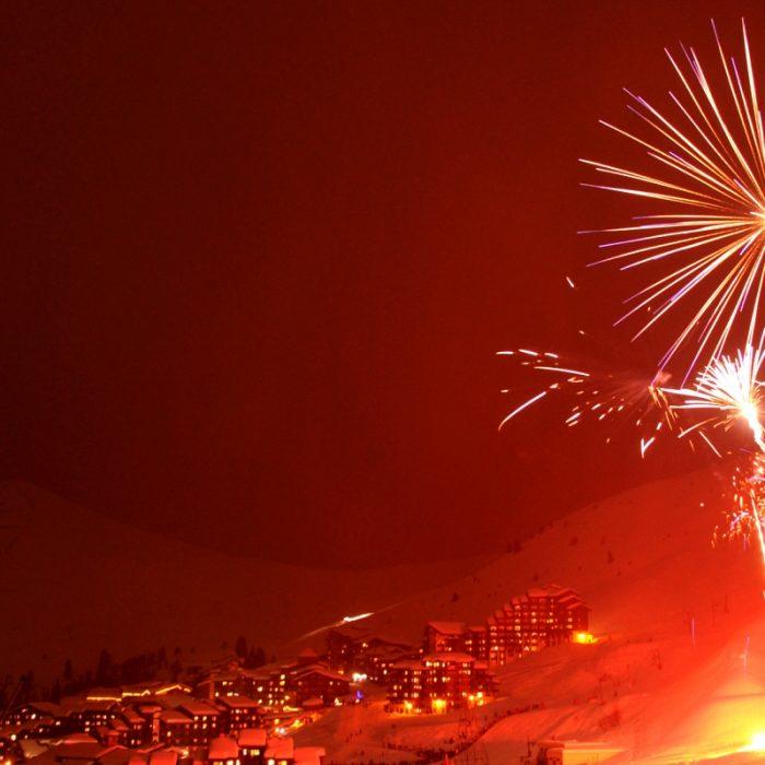Esprit | Festive fireworks at New Years in La Plagne