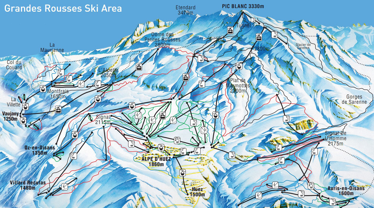 Ski Resort Piste Maps Family Skiing Holidays Esprit Ski