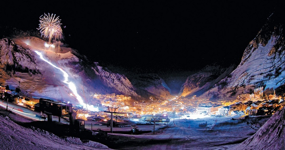 Fireworks in Val D'Isere